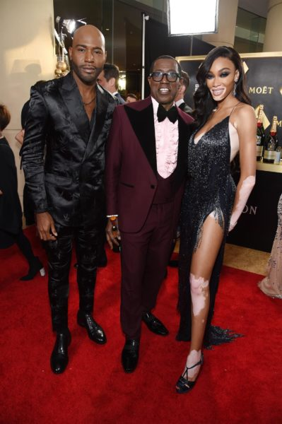 Moët & Chandon at the 77th Golden Globes: Karamo Brown, Wesley Snipes, and Winnie Harlow. (Foto Moët & Chandon)