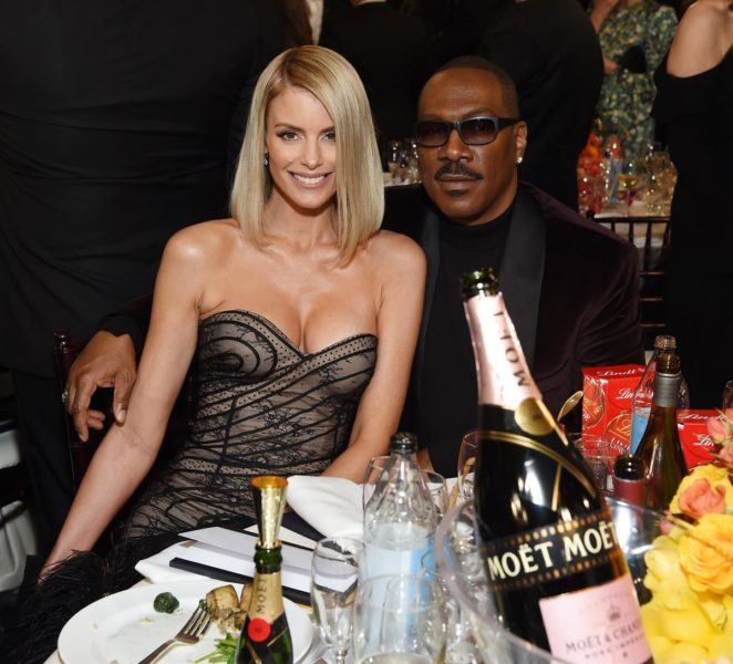 Moët & Chandon at the 77th Golden Globes: Paige Butcher and Eddie Murphy. (Foto Moët & Chandon)