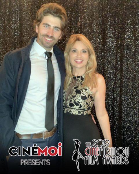 Swen Temmel und seine Freundin Meadow Williams lieben es, so viel wie möglich gemeinsam zu machen. Hier in Cannes bei der Cinémoi Gala 2019 (Foto Cinémoi Network)