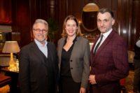 Austrian Gentlemen´s Club: Adi Hirschal, General Manager Monique Dekker, Roman Svabek (Foto: Juergen Hammerschmid)