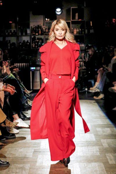 Gitta Banko präsentierte als Model ihre eigene 'boscana X Gitta Banko Mode-Kollektion während der Berliner Fashion Week. (Photo by Isa Foltin/Getty Images)