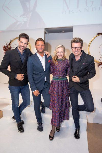 BRANDBOXX & STYLEUP YOUR LIFE! Fashion Night: Michael Lameraner, Brandboxx-Geschäftsführer Markus Oberhamberger, Schauspielerin Nina Proll und Adi Weiss (Foto Moni Fellner)