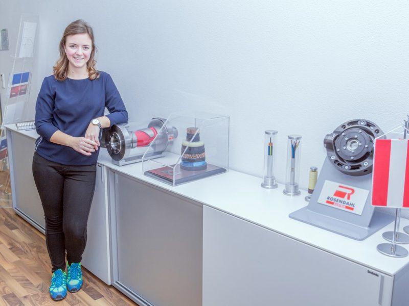 Bei Rosendahl Nextrom mag Elisabeth Gerencser das gute und flexible Arbeitsklima, die flexiblen Arbeitszeiten, schöne betriebliche Veranstaltungen und die Weiterbildungsmöglichkeiten. (Foto Sabina Saurer Photography)