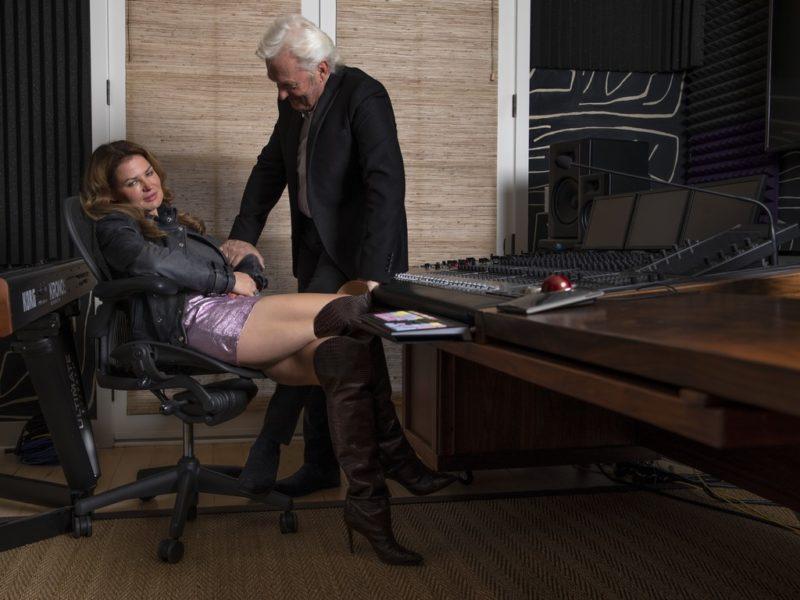 Peter Wolf arbeitete erstmals als TV-Produzent, Lea Wolf-Millesi erstmals als Schauspielerin in einer TV Serie – eine neue und unglaublich spannende Aufgabe. (Foto privat)