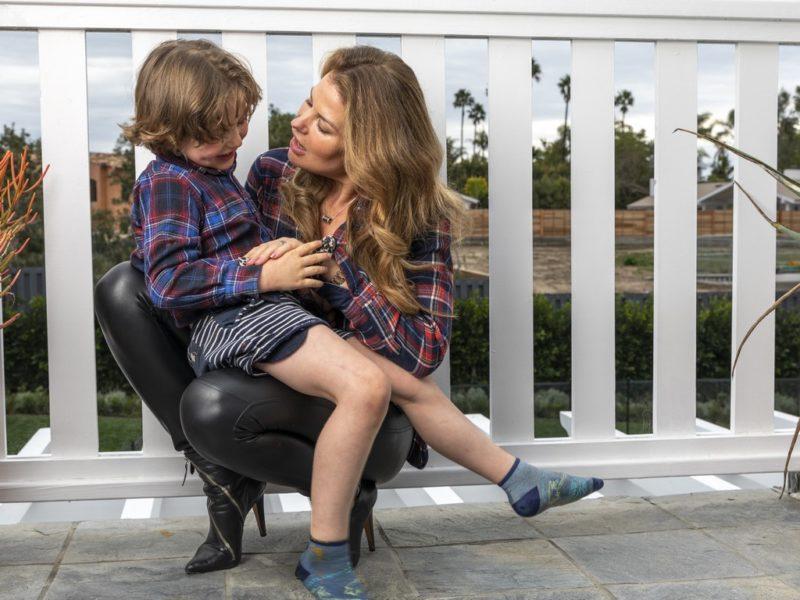 Lea Wolf-Millesi: Model, Schauspielerin, Lyrikerin - und liebevolle Mutter. (Foto privat)