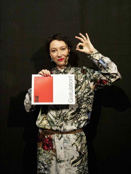 Ursula Strauss erhält im Rahmen der Festivaleröffnung der Diagonale'20 am 24. März den Großen Diagonale-Schauspielpreis für Verdienste um die österreichische Filmkultur. (Foto Diagonale - Miriam Raneburger)