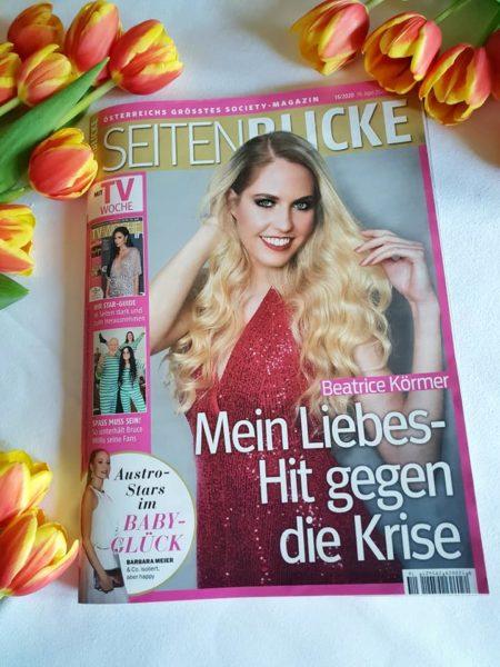 Ihr Cover am neuen Seitenblicke Magazin shootete Beatrice Körmer selbst.