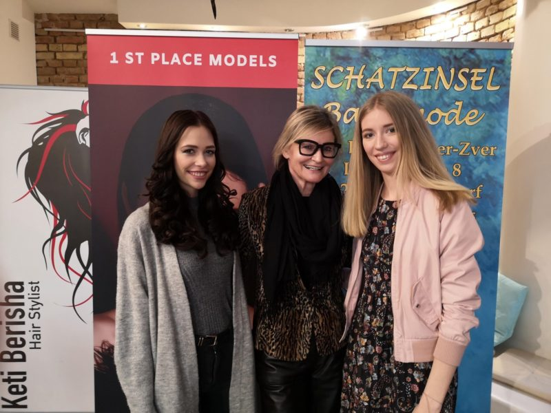 Kärntens Nächstes Topmodel 2016 Tamara Sadnikar, Journalistin Hedi Grager und das international arbeitende Model Alida Tolmaier. (Foto privat)