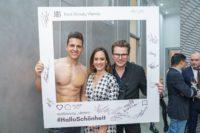 Eröffnung des Real Beauty Vienna Schönheitssalons. Mit dabei Philipp Knefz, Sasa Schwarzjirg und Adi Weiss. (Foto Andreas Tischler)