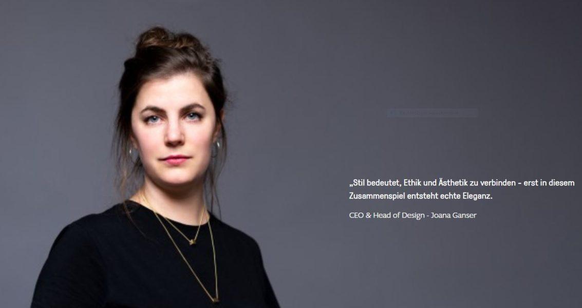 CEO & Head of Design von SHIPSHEIP Joana Ganser. (Foto SHIPSHEIP)