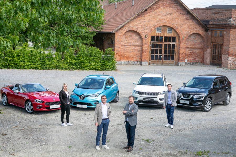VOGL + CO - Miete dein Auto: Anja Gruber, VOGL + CO Geschäftsführer Gerald Auer und Oliver Wieser und Rafael Krammer. (Foto VOGL + CO)