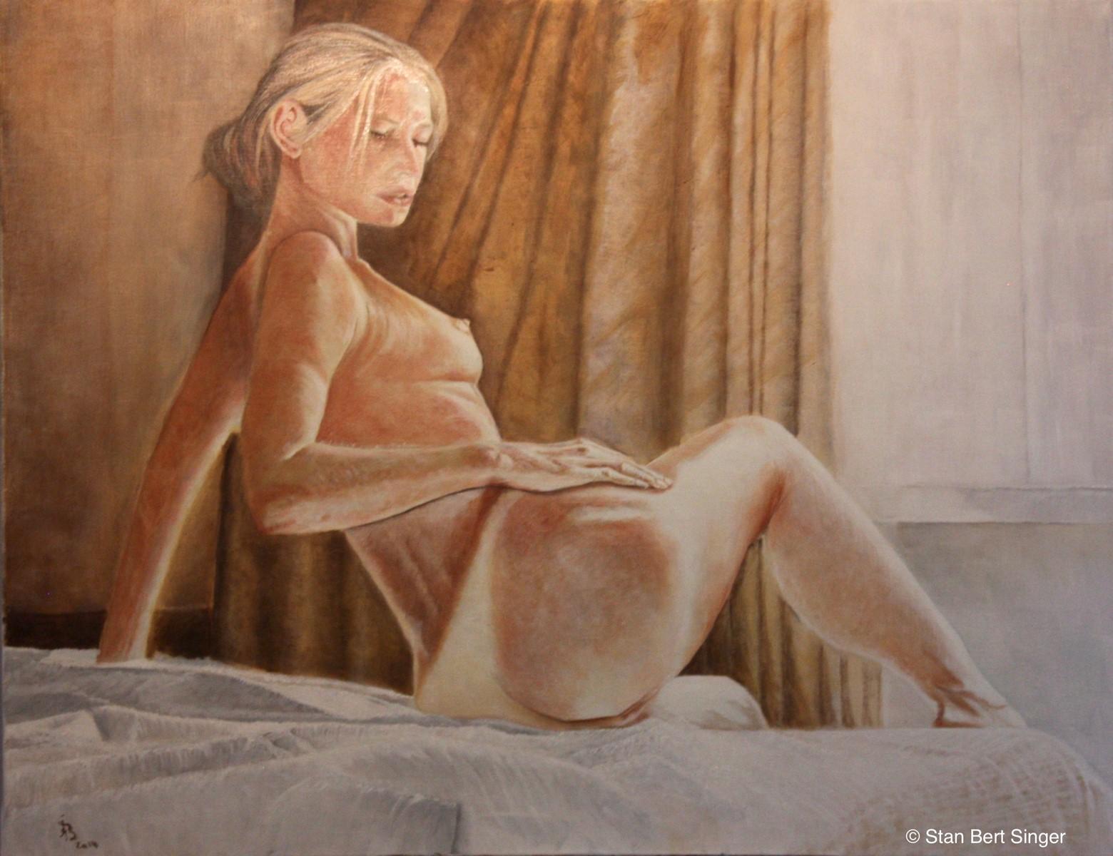"""Stan Bert Singer: """"Neben meinen Auftragsarbeiten und Porträts stellen meine Bilder die Schönheit, den Geist aber auchdas Leiden der Frau dar. (Foto Stan Bert Singer)"""