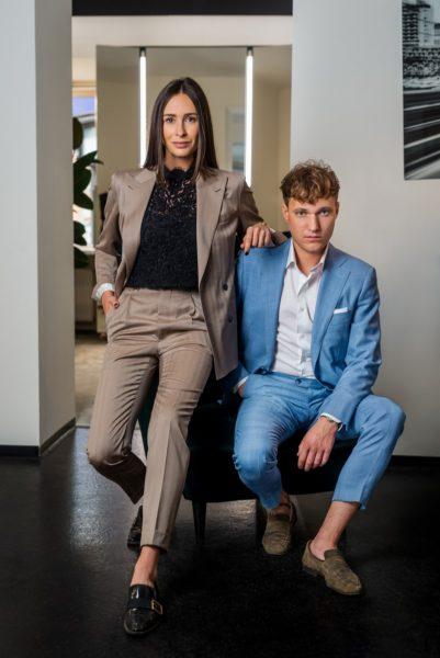 """""""Piekfein"""", das sind Christina Poharec und Marco Zeilinger- und sie machen Maßkonfektion für den perfekten Auftritt. (Foto Jörgler)"""