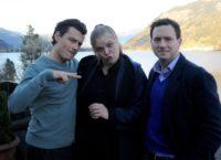 """""""Das dunkle Paradies"""" mit den Schauspielern Manuel Rubey und Stefanie Reinsperger sowie Produzent Jakob Pochlatko (re). (Foto epo-film)"""