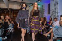 Fashionshow mit Designerin Barbara Alli im Wiener Studio G. Models by 1 st Place Models. (Foto Albert Stern)
