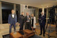 Schmuckstars Award 2020: Moderator Alfons Haider, Felix Reinhard und Rosi sowie Christian Lerner. (Foto Stefan Diesner)