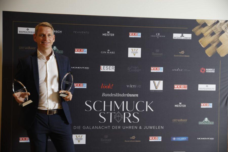 "Schmuckstars Awards 2020: ""Kategorie Trauringspezialist des Jahres"" - Lucas Arnezeder - Lucas Schmuckarbeit. (Foto Stefan Joham)"