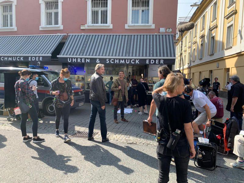 """Graz ist auch immer wieder Drehort für die """"SOKO Donau"""". (Foto Film Commission Graz)"""