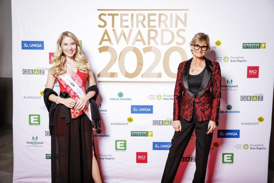 STEIRERIN AWARDS Gala 2020: Unter den geladenen Gästen auch Miss Austria Larissa Robitschko und Journalistin/Bloggerin Hedi Grager. (Foto Thomas Luef)