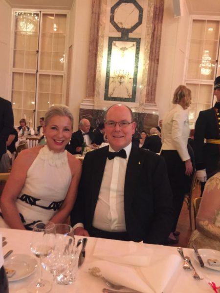 Dr. Martina Fasslabend bei einem Empfang von Fürst Albert von Monaco. (Foto privat)