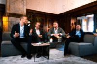 Der dänische Unternehmer Frederik Kjaer mit Freunden. (Foto privat)