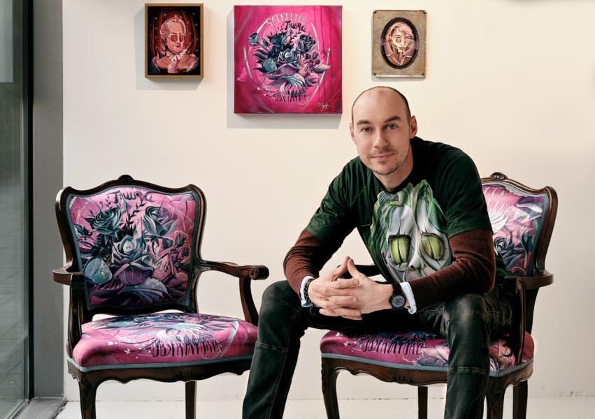 Mit seinen bunten und lauten Bildern wurde Tom Lohner innerhalb weniger Jahre zu einem der gefragtesten steirischen Künstler. (Foto Bakerhouse Gallery)
