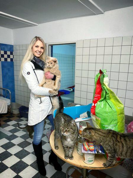 Tierschutz ist ein Herzensprojekt von Miss Vienna Beatrice Körmer. (Foto privat)