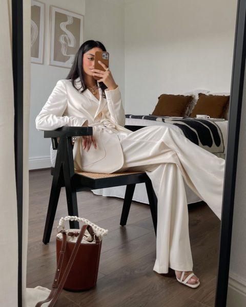 Hannah Desai von cocobeautea verfolgte den Fashion Film live aus London. (Foto Marc Cain)