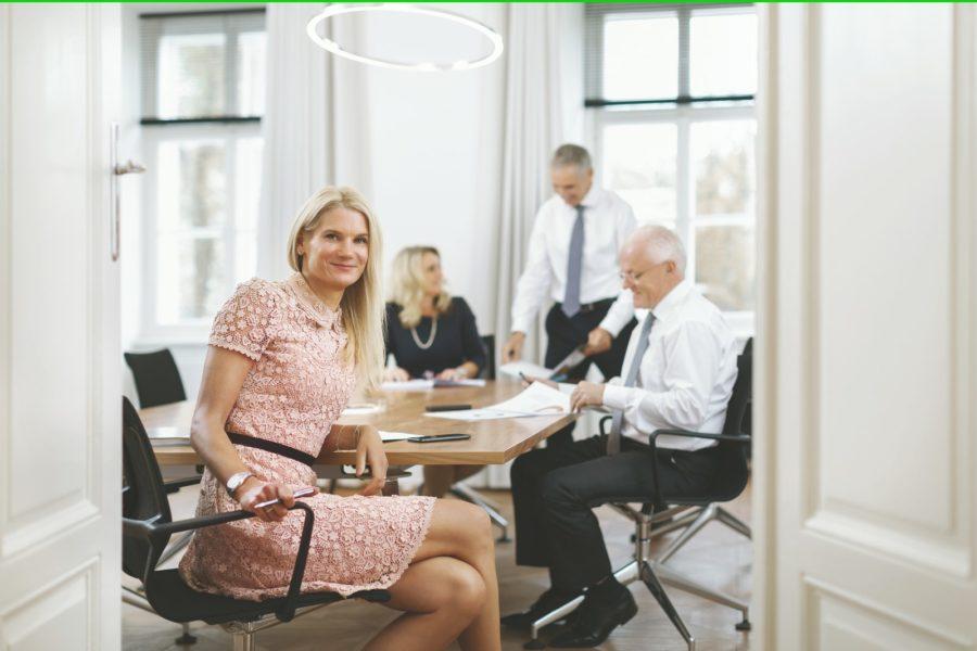 Bankhaus Spängler, Team Niederlassung Graz (v.l.): Sabine Skorka (Leitung Region Steiermark), Sonja Pölzl (Private Banking), Gerald Hahn (Private Banking) und Rudolf Weininger (Stv. Leitung). (Foto Bankhaus Spängler)