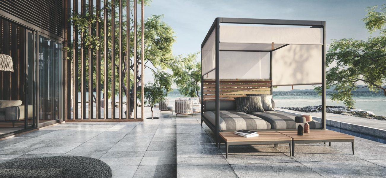 Lodge Cabana by Gloster - Design: Henrik Pedersen, Dänemark. (Foto Das Möbelwerk / Gloster)