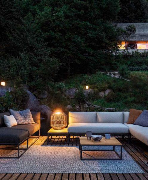Gloster kreiert seine zeitlosen Outdoor-Möbel in Zusammenarbeit mit international renommierten Designern. (Foto Das Möbelwerk /Gloster)
