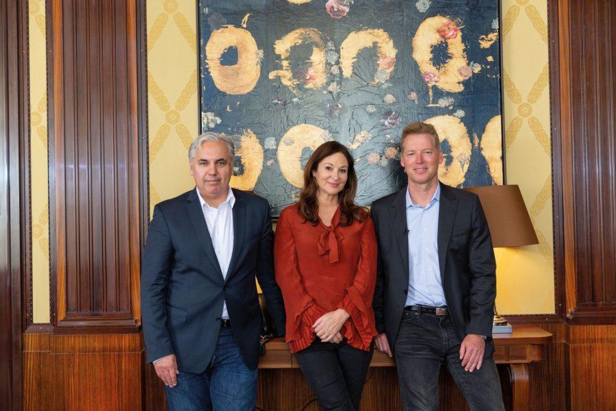 MEET YOUR STAR USA: Founder & Chief Executive Officer Georg Kindel, OOOM-Gründerin und MEET YOUR STAR-COO Christina Zappella-Kindel und Patrick Knapp-Schwarzenegger. (Foto MEET YOUR STAR)