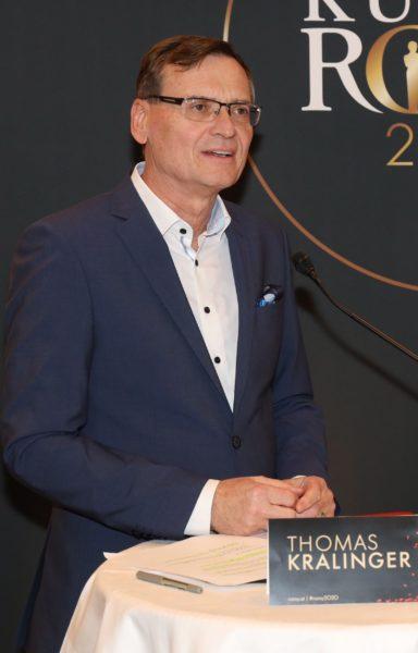 """Thomas Kralinger, Geschäftsführer KURIER: """"Wir sind glücklich, dass die ROMY auch dieses Jahr wieder in Kooperation mit dem ORF stattfinden wird. (Foto Kurier/Karl Schöndorfer)"""