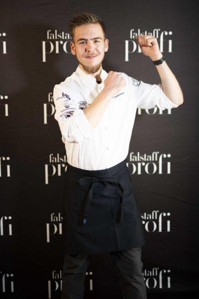 "Der Sieger des Falstaff Young Talents Cups im im Bereich ""Küche"" ist Jakob Quehenberger aus dem Gasthof Hotel ""Brüggler"". (Foto Falstaff Profi)"