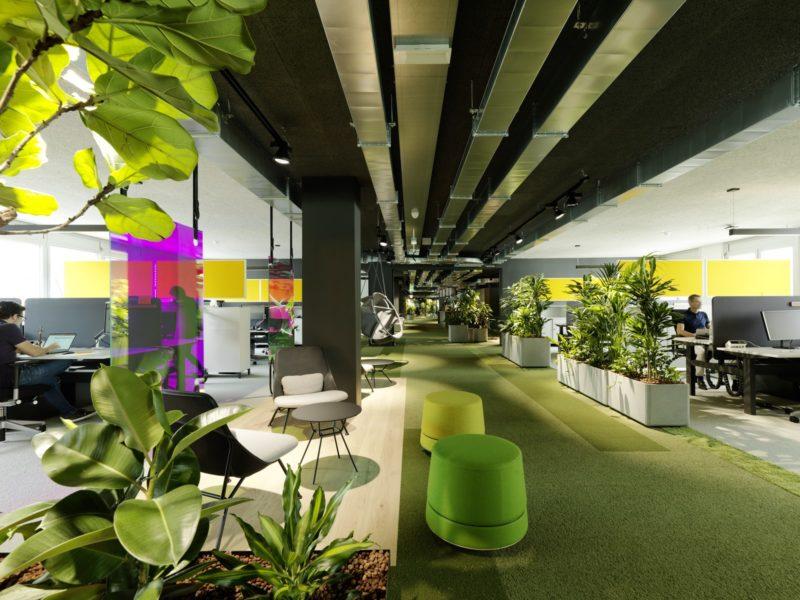 Anastasija Lesjak entwickelte eine modulare Büromöbelkollektion für Lande sowie eine Sitzmöbel-Serie und Akustik-Licht-Elemente für BuzziSpace. (Foto Paul Ott)