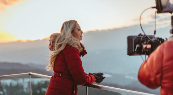 Miss Vienna Beatrice Körmer drehte Musikvideo am Stuhleck