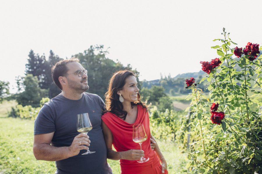"""In der Topliste """"Die andere Steiermark"""" finden sich auch Heidi und Stefan Potzinger mit ihrem Weingut in der Südsteiermark. (Foto Weingut Potzinger)"""