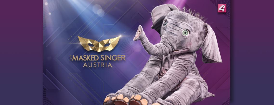 The Masked Singer Austria: der Babyelefant. (Foto Puls4)