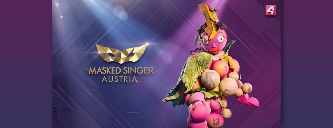 The Masked Singer Austria: die Weintraube. (Foto Puls4)