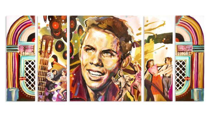 Künstlerin Carola Deutsch verewigte Peter Kraus in einem Kunstwerk