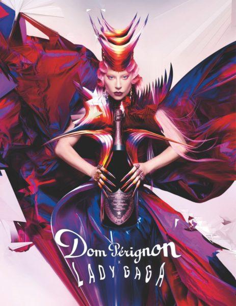"""Da Dom Pérignon immer auch die Anliegen der Künstler unterstützt, wird das Champagnerhaus auch mit dieser Kollaboration Lady Gagas """"Born This Way Foundation!"""" maßgeblich fördern. (Foto Nick Knight)"""