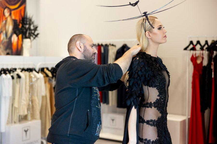 Es bereitete Beatrice eine große Freude, mit dem Star Designer Zvonko Marković zu arbeiten, der für viele internationale Topstars designt. (Foto @zoranmircetic @art_utopia_studio)