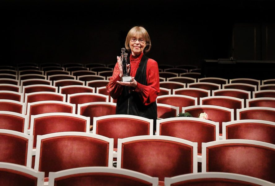 """""""ROMY 2021 - Der Österreichische Film- und Fernsehpreis"""": Auch Cornelia Froboess bekam eine Platin-ROMY für das Lebenswerk. (Foto ORF/Kurier/Marie-Laure Briane)"""