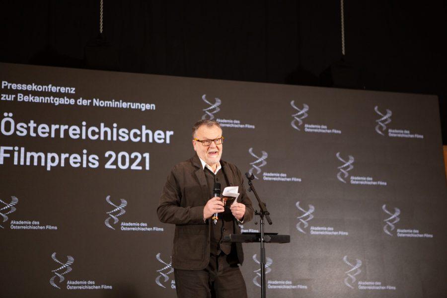 Stefan Ruzowitzky,Präsident der Akademie des Österreichischen Films, bei der Pressekonferenz des Österreichischen Filmpreises 2021. (Foto AOEF)