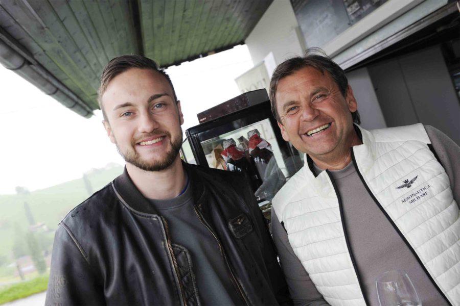 Pop up Bar APERITIVO: Gemeinsam mit der Bäckerei Heuberger in Strass wurde sogar ein eigenes Cicchetti-Brot nach Geheimrezept entwickelt. Philipp und Manfred Heuberger. (Foto Apresvino)