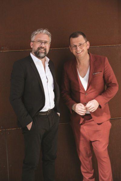 ANDY WOLF Eyewear Founder Andreas Pirkheim und Wolfgang Scheucher. (Foto Markus Mansi Moma)