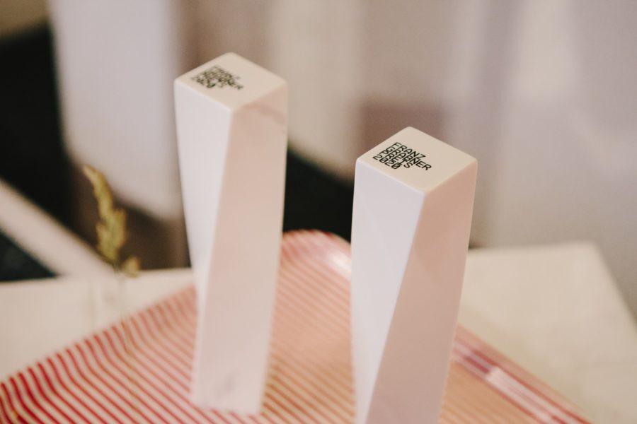 Diagonale21 - Verleihung Franz-Grabner-Preis. Der Preis wurde von Familie Grabner, AAFP, Film Austria, ORF und der Diagonale im Andenken an den ORF-Journalisten Franz Grabner (1955–2015) initiiert. (Foto Diagonale/Sebastian Reiser)