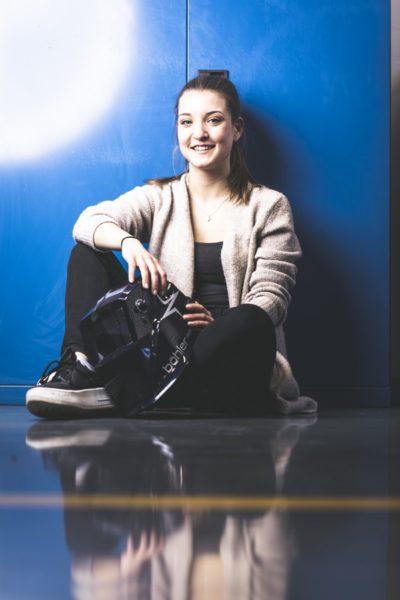 Jennifer Sichau macht bei der voestalpine Stahl Donawitz ihre Lehre als Metall- und Schweißtechnikerin. (Foto Thomas Luef)