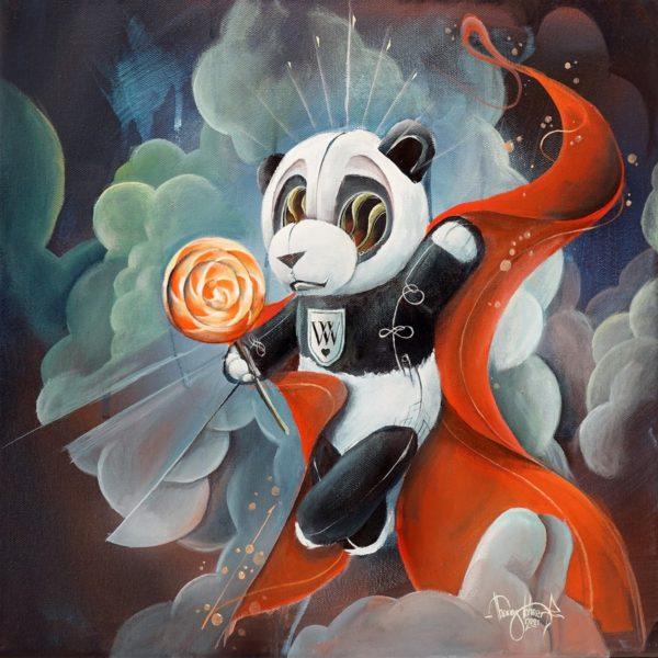 """Sehr begehrt ist auch sein """"kleiner Panda"""", handsigniert auf der Vorderseite. """"Eigentlich habe ich ihn im Rahmen eines Workshops als Beispiel produziert und war noch gar nicht fertig, als ihn eine Sammlerin schon unbedingt haben wollte. Deshalb bieten wir ihn jetzt in kleiner Auflage an"""", so Tom Lohner. (Foto Tom Lohner)"""