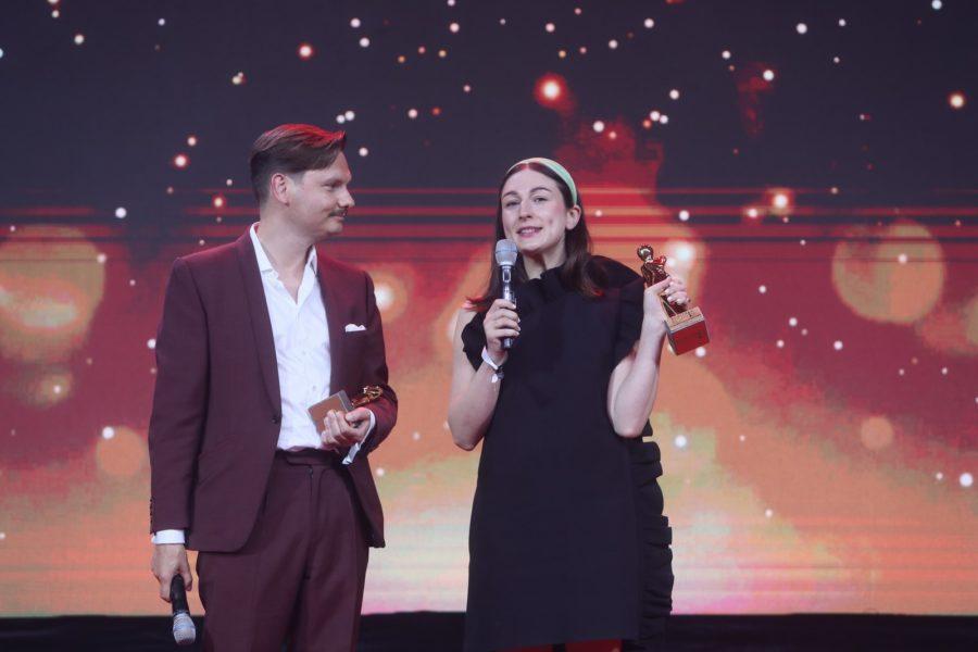 Die Filmemacher Daniel Hoesl und Julia Niemann bei der Branchen-ROMY 2021. (Foto KURIER / Romar Ferry)
